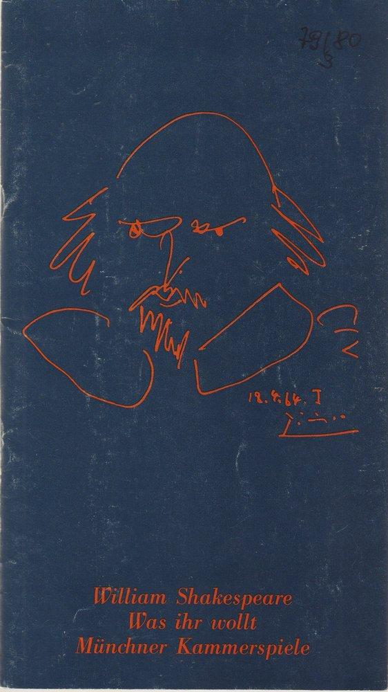Programmheft William Shakespeare WAS IHR WOLLT Münchner Kammerspiele 1980