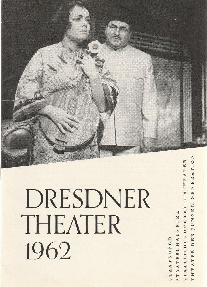 Programmheft DRESDNER THEATER  Spielzeitheft 1962