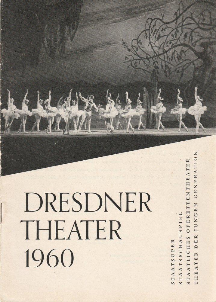 Programmheft DRESDNER THEATER Spielzeitheft 1960