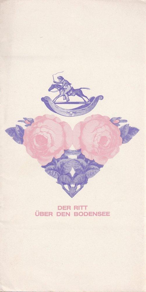 Programmheft Peter Handke DER RITT ÜBER DEN BODENSEE Bühnen Nürnberg 1971