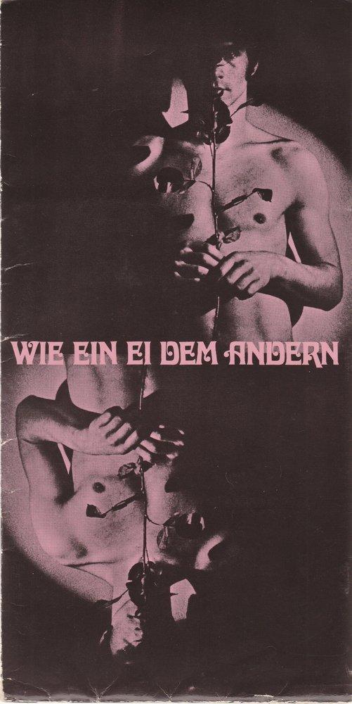 Programmheft Collin Spencer WIE EIN EI DEM ANDEREN  Bühnen Nürnberg 1973