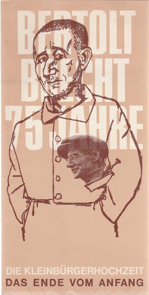 Programmheft Bertolt Brecht DIE KLEINBÜRGERHOCHZEIT Bühnen Nürnberg 1973