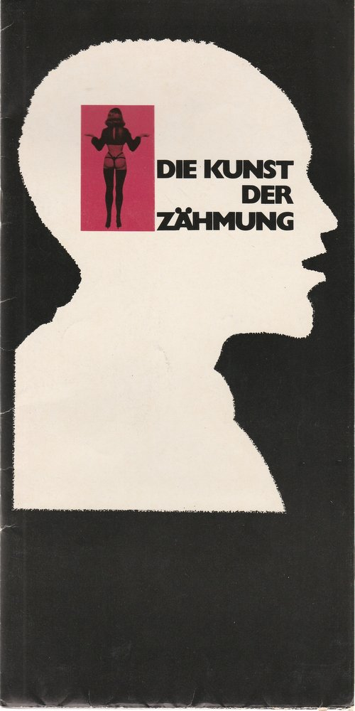 Programmheft Martin Sperr DIE KUNST DER ZÄHMUNG Bühnen Nürnberg 1973