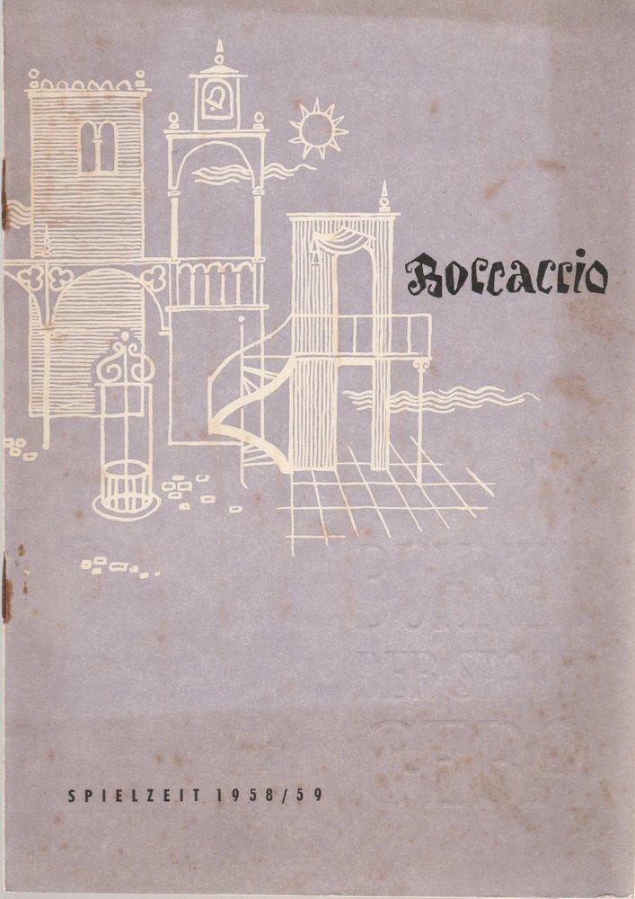 Programmheft Franz von Suppe BOCCACCIO Bühnen der Stadt Gera 1958