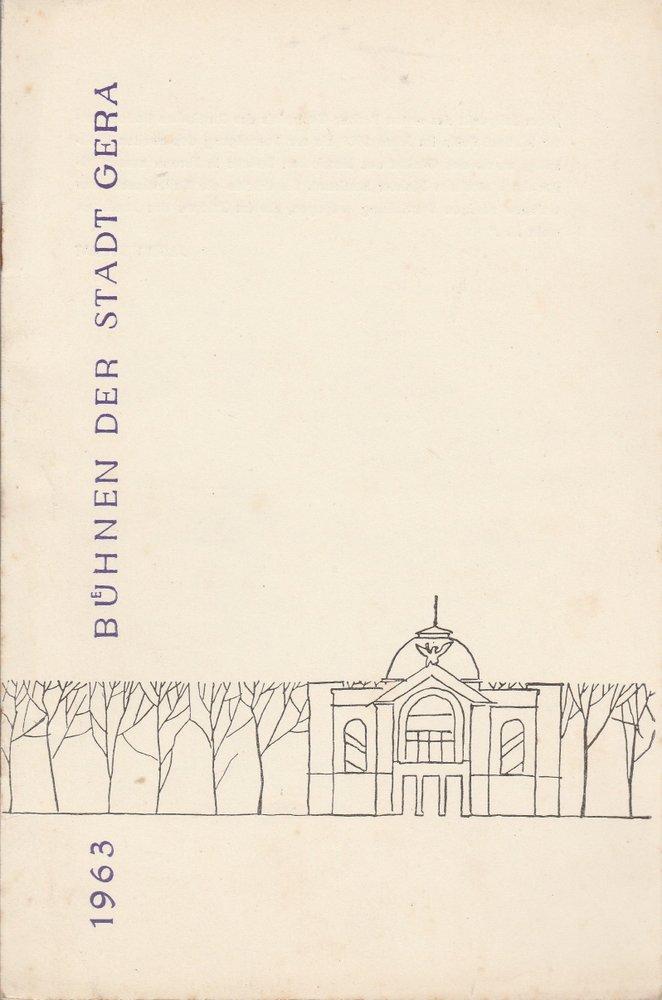 Programmheft Victor Bruns DAS RECHT DES HERRN Bühnen der Stadt Gera 1963