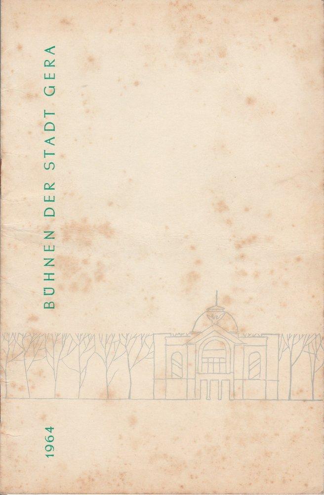 Programmheft Nikolai W. Gogol DER REVISOR Bühnen der Stadt Gera 1963