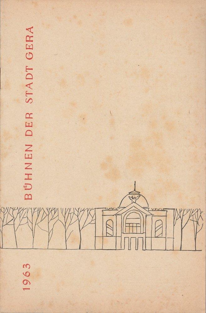 Programmheft Paul Lincke FRAU LUNA Bühnen der Stadt Gera 1963
