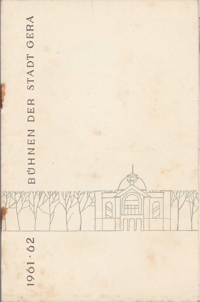Programmheft Uwe Ködderitzsch SPARTACUS Bühnen der Stadt Gera 1961