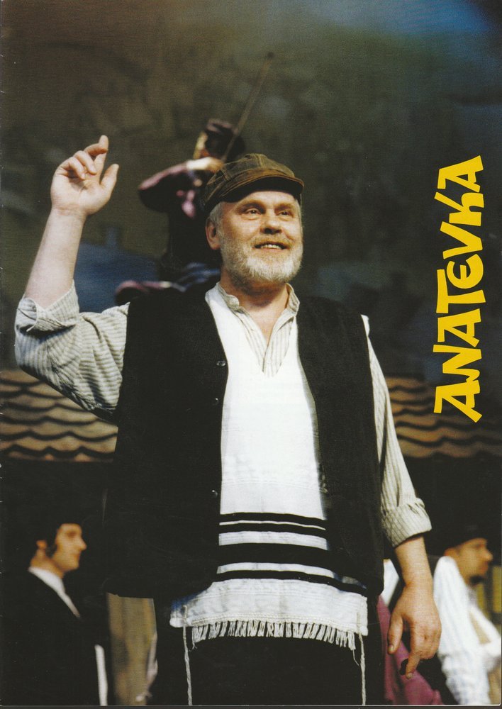 Programmheft ANATEVKA Fiddler on the roof Konzertdirektion Joachim Landgraf 1998