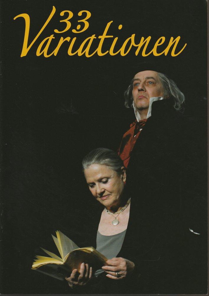 Programmheft Moises Kaufmann 33 VARIATIONEN Konzertdirektion Landgraf 2011