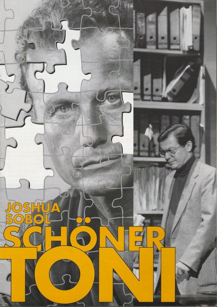 Programmheft Joshua Sobol SCHÖNER TONI Konzertdirektion Landgraf 1996