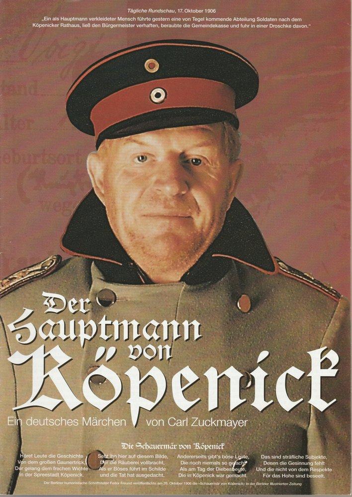Programmheft DER HAUPTMANN VON KÖPENICK Konzertdirektion Landgraf 1996