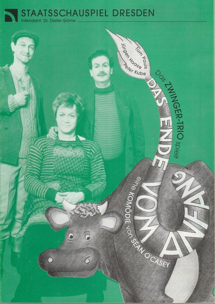 Programmheft Das Zwinger-Trio spielt Sean O' Casey DAS ENDE VOM ANFANG 1995