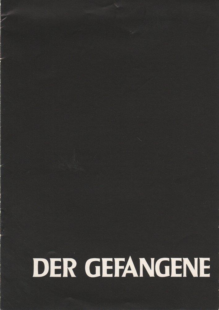 Programmheft Bridget Boland DER GEFANGENE Berliner Schaubühne 1961