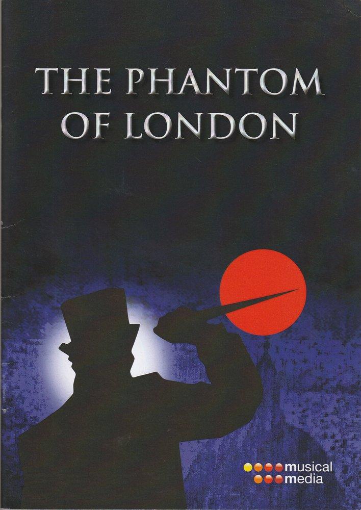 Programmheft THE PHANTOM OF LONDON Beiheft mit englischen Songtexten Prag 2013