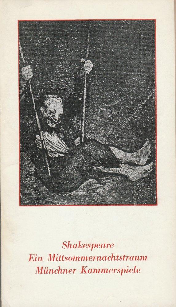 Programmheft Shakespeare: Ein Mittsommernachtstraum Münchner Kammerspiele 1978