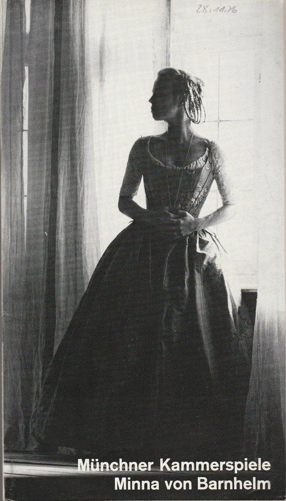 Programmheft Lessing: Minna von Barnhelm Münchner Kammerspiele 1976