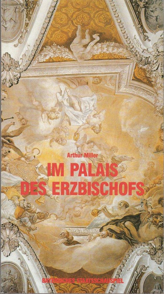 Programmheft Im Palais des Erzbischofs Bayerisches Staatsschauspiel 1987