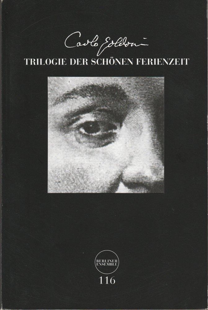 Programmheft Trilogie der schönen Ferienzeit von Carlo Goldoni Berliner Ensemble