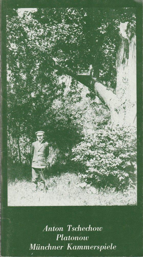 Programmheft Anton Tschechow: Platonow Münchner Kammerspiele 1981