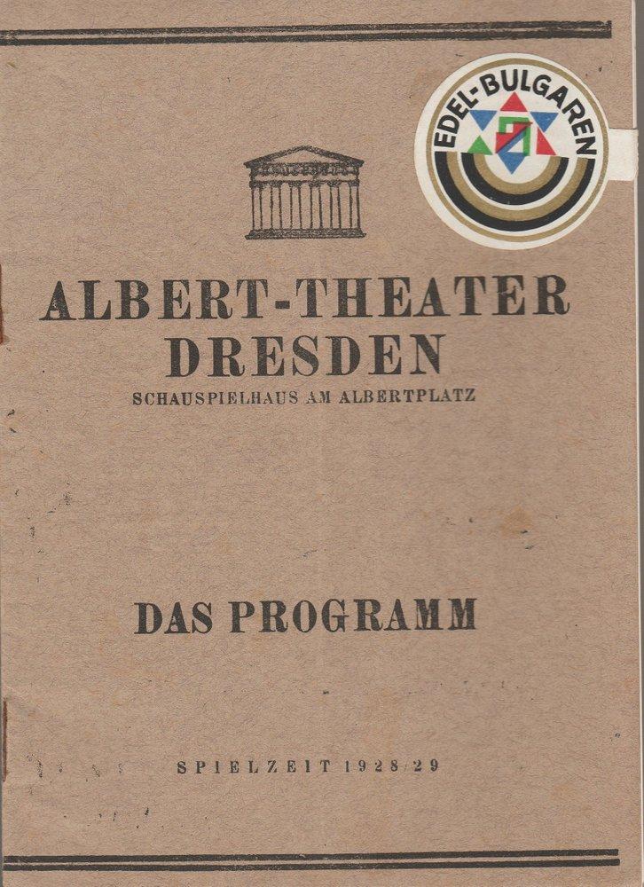Programmheft Lessing MINNA VON BARNHELM Albert-Theater Dresden 1928