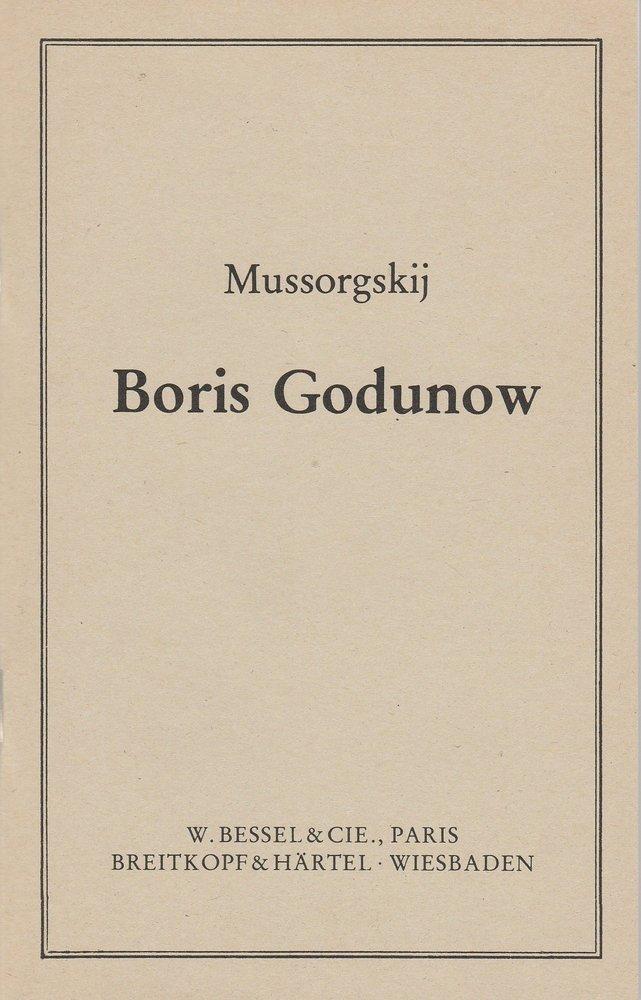 Modest Petrowitsch Mussorgskij BORIS GODUNOW