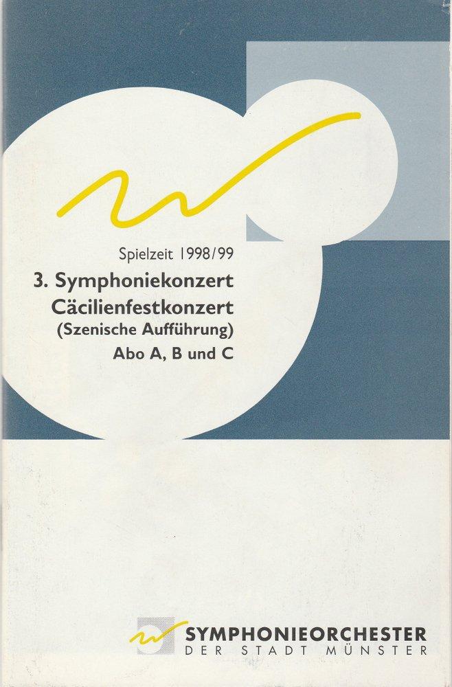 Programmheft 3. Symphoniekonzert / Cäcilienfestkonzert Münster 1998