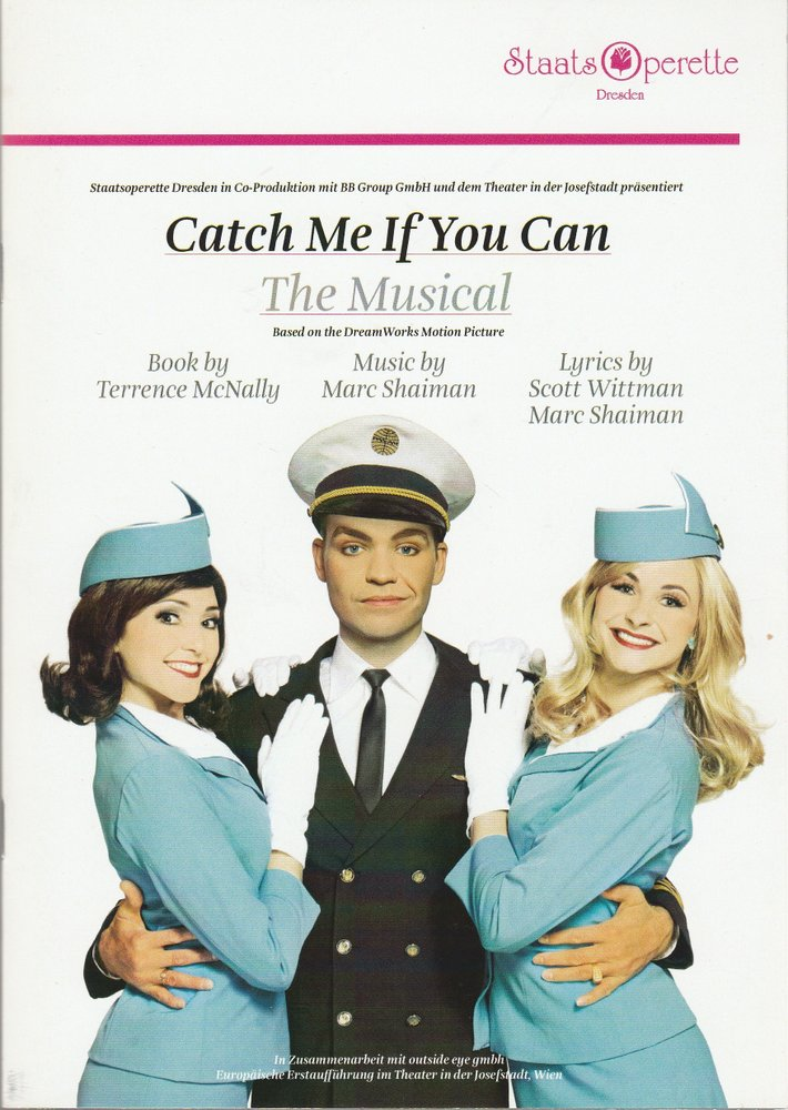 Programmheft CATCH ME IF YOU CAN. THE MUSICAL Staatsoperette Dresden 2014