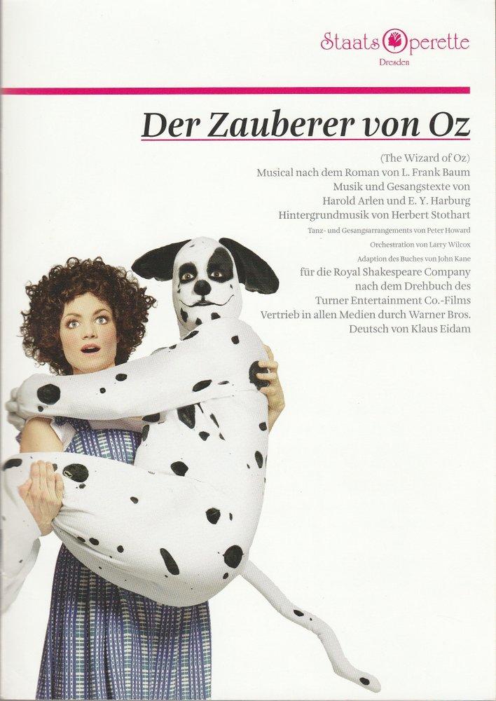 Programmheft DER ZAUBERER VON OZ Musical Staatsoperette Dresden 2012
