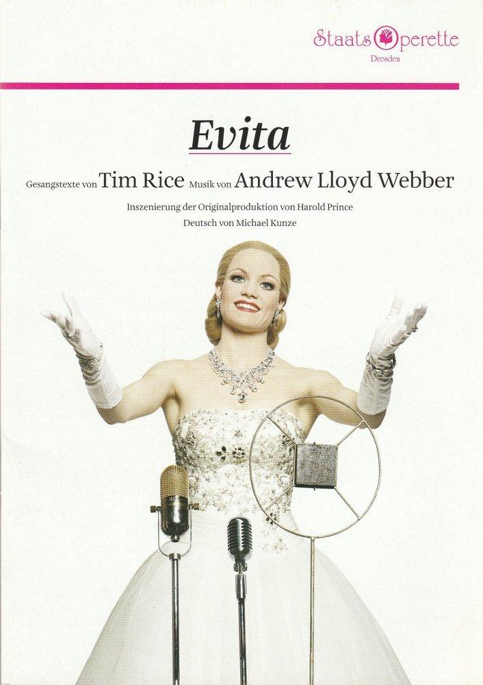 Programmheft Tim Rice / Andrew Lloyd Webber EVITA Musical Staatsoperette 2014