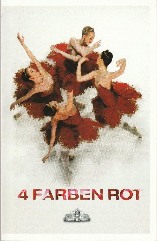 Programmheft 4 FARBEN ROT Dresdner Semperoper Ballett 2009