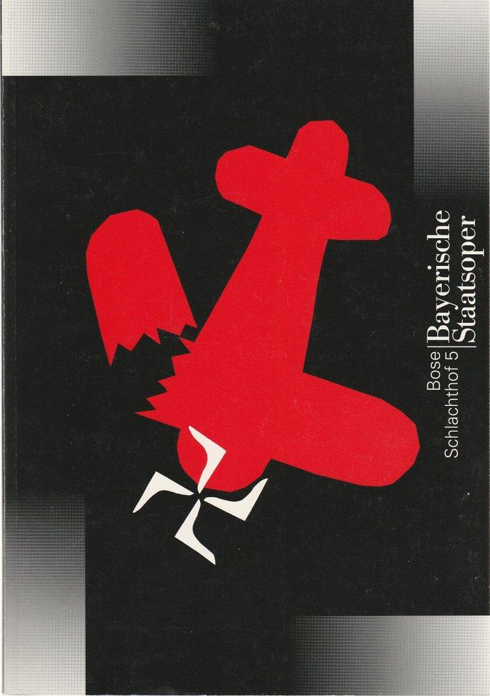 Programmheft Uraufführung SCHLACHTHOF 5 Bayerische Staatsoper 1996