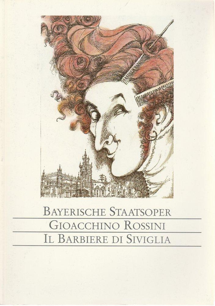 Programmheft Rossini: Il Barbiere di Siviglia Bayerische Staatsoper 1996