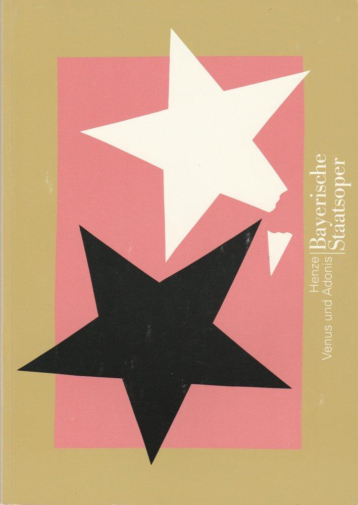Programmheft Hans Werner Henze VENUS UND ADONIS Bayerische Staatsoper 1997