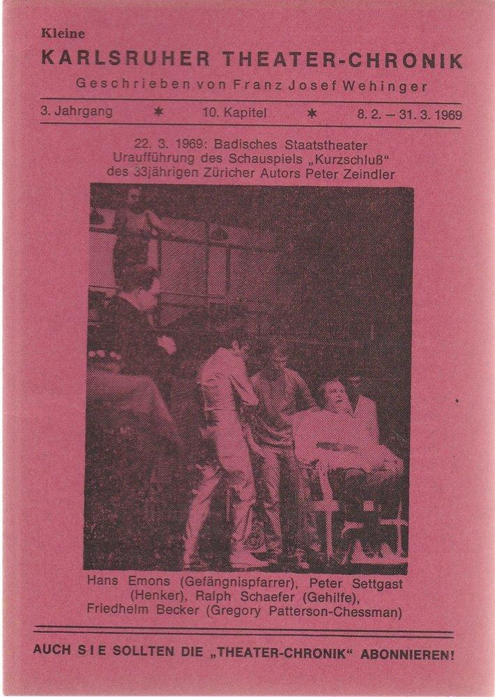 Kleine Karlsruher Theater-Chronik 3. Jahrgang 10. Kapitel 1969