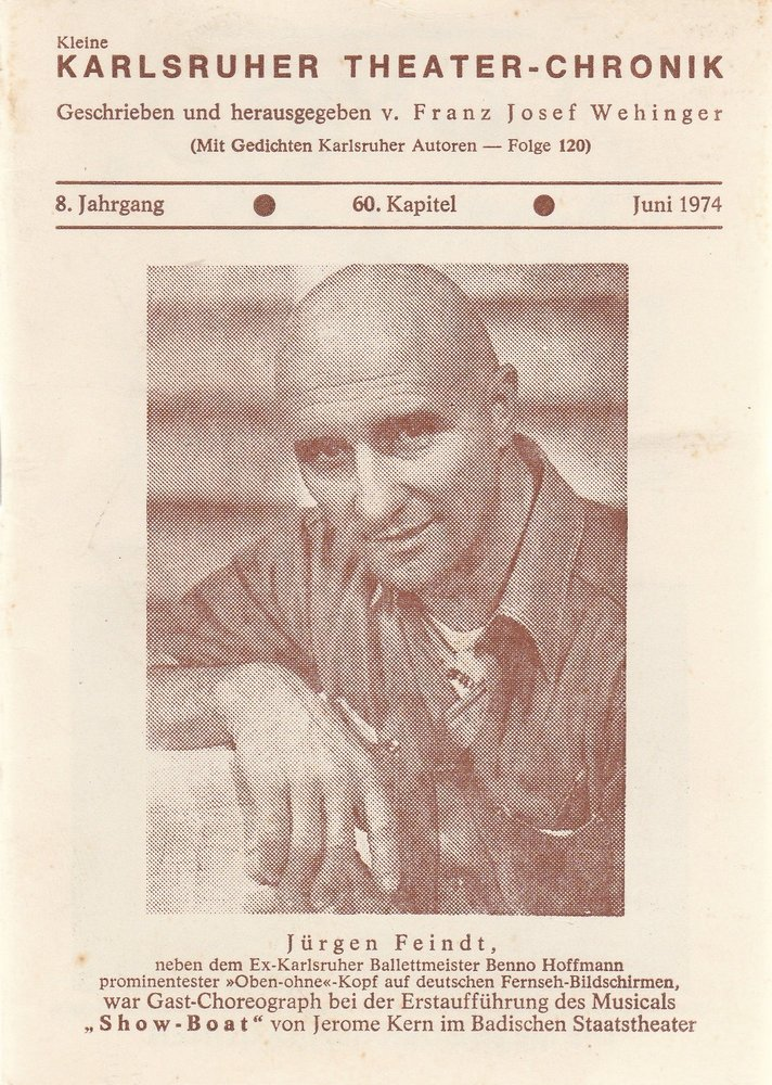 Kleine Karlsruher Theater-Chronik 8. Jahrgang 60. Kapitel 1974