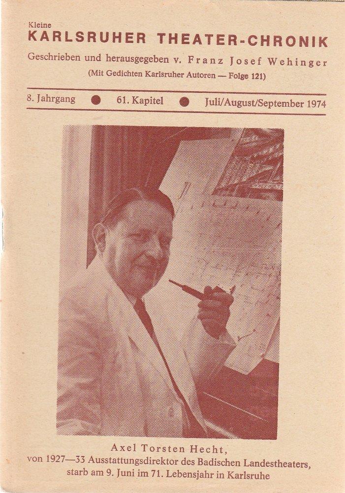 Kleine Karlsruher Theater-Chronik 8. Jahrgang 61. Kapitel 1974