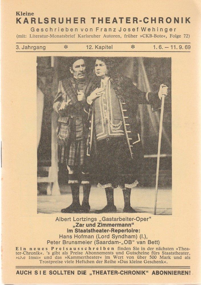 Kleine Karlsruher Theater-Chronik 3. Jahrgang 12. Kapitel 1969