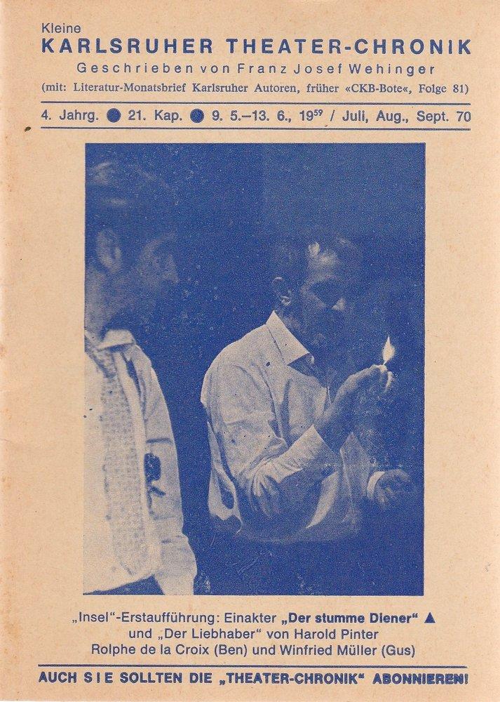 Kleine Karlsruher Theater-Chronik 4. Jahrgang 21. Kapitel 1970
