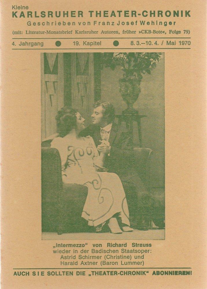 Kleine Karlsruher Theater-Chronik 4. Jahrgang 19. Kapitel 1970