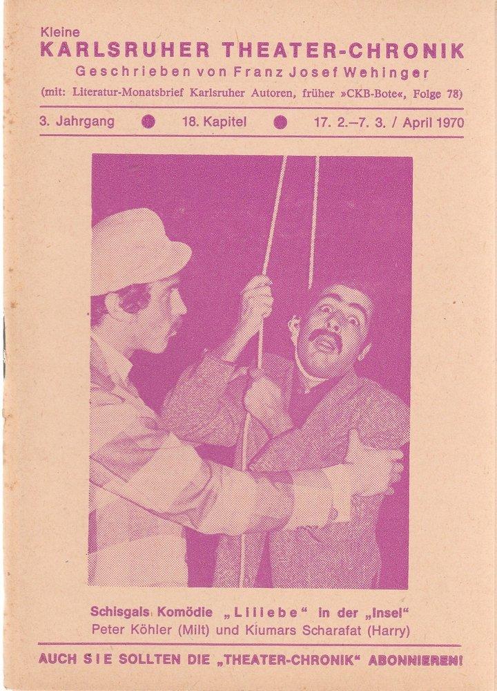 Kleine Karlsruher Theater-Chronik 3. Jahrgang 18. Kapitel 1970