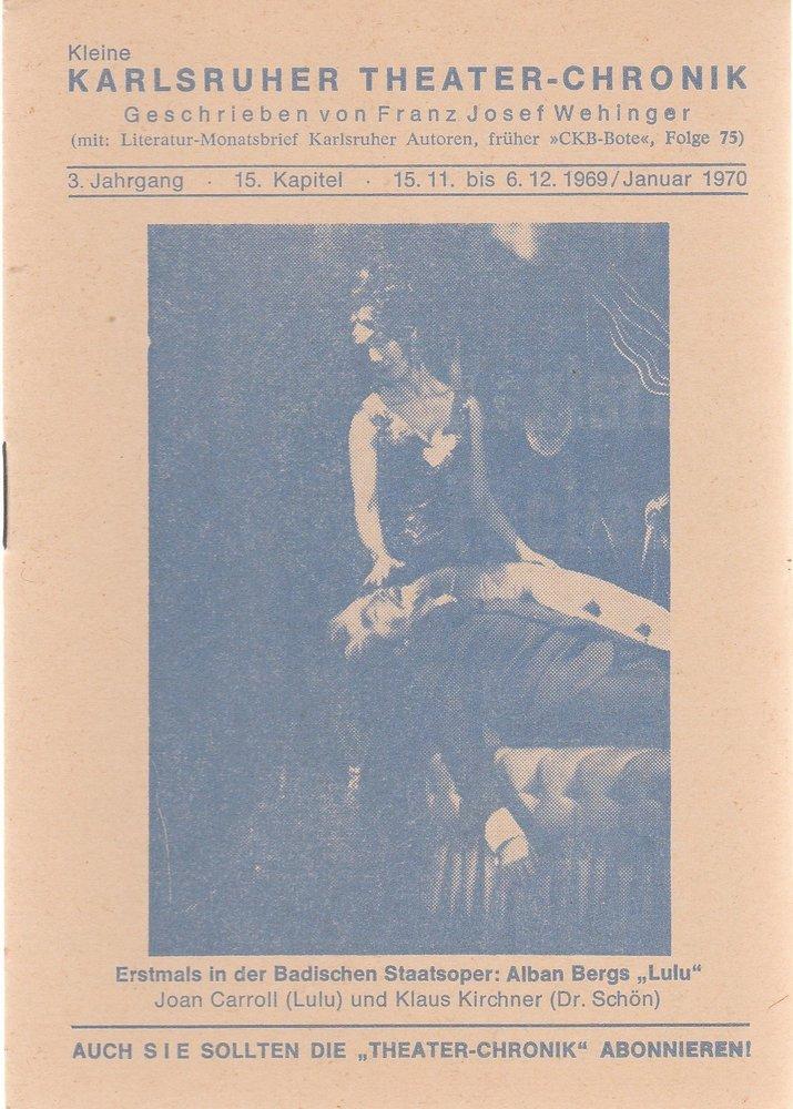 Kleine Karlsruher Theater-Chronik 3. Jahrgang 15. Kapitel 1970