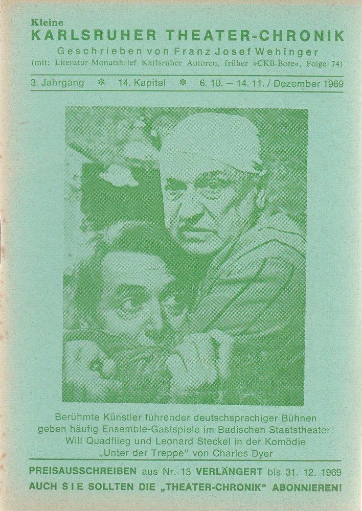 Kleine Karlsruher Theater-Chronik 3. Jahrgang 14. Kapitel 1969