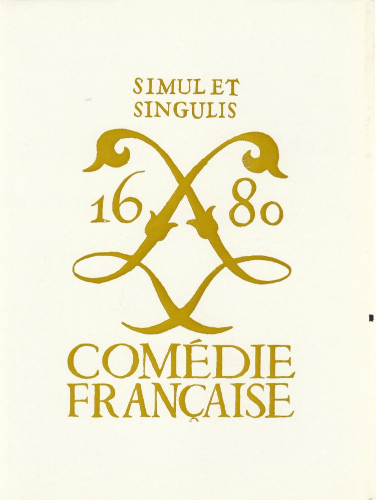 Programmheft Moliere DOM JUAN Comedie Francaise 1968