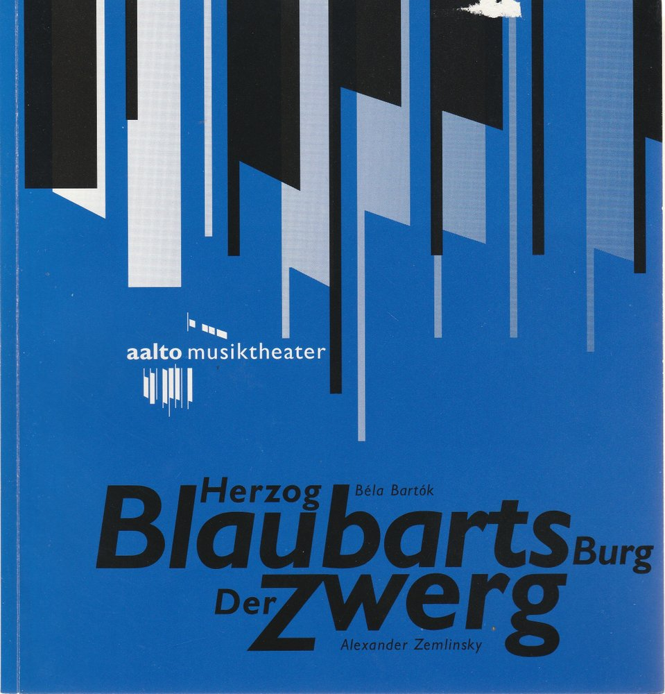 Programmheft HERZOG BLAUBARTS BURG / DER ZWERG Aalto Theater 1994
