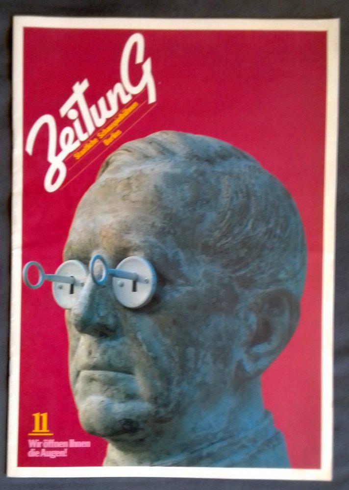 ZEITUNG Nr. 11 Wir öffnen die Augen Staatliche Schauspielbühnen Berlins 1982