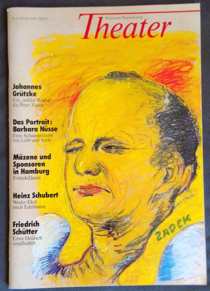 THEATER Hamburger Theaterzeitung Nr. 6 Herbst 1986