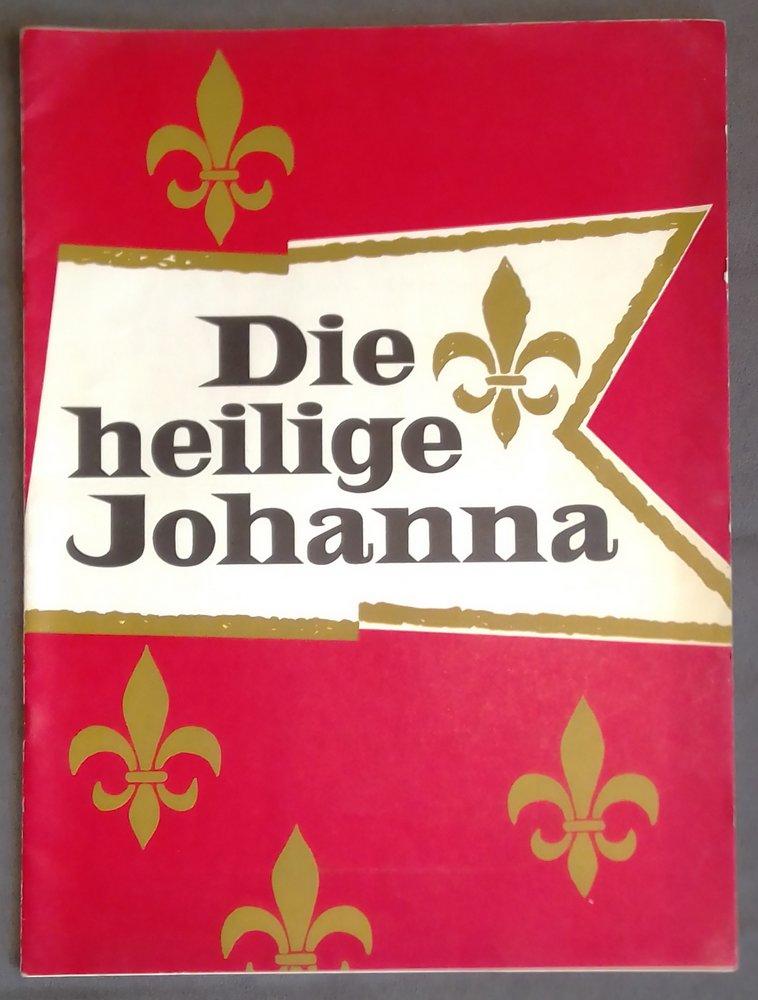 Programmheft Shaw DIE HEILIGE JOHANNA Neues Theater München Klaus Kinski 1962