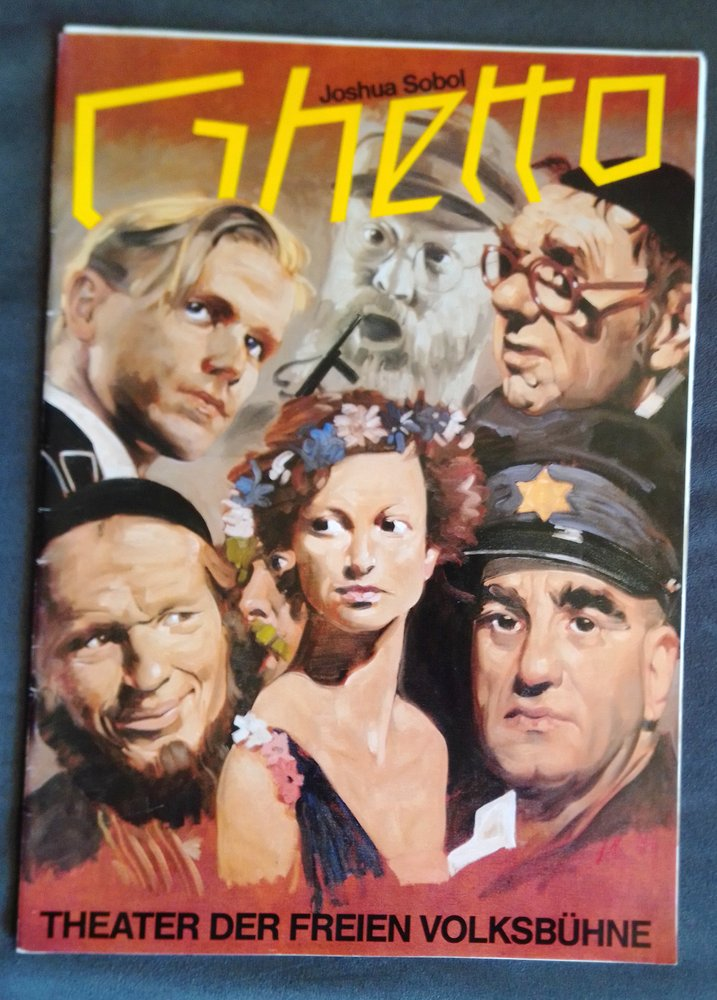 Programmheft Joshua Sobol GHETTO Theater der Freien Volksbühne 1984
