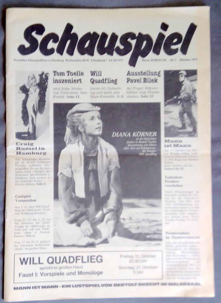 SCHAUSPIEL Nr. 1 Oktober 1979 Deutsches Schauspielhaus in Hamburg